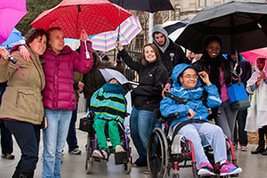 Advocates brave the rain for the 2015 Disability Day at the Capitol.
