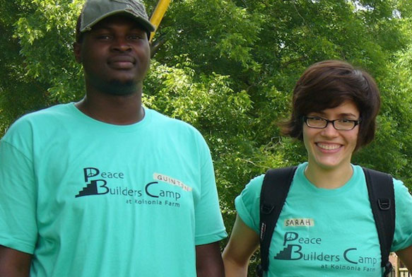 staff at peacebuilders camp at koinonia farm