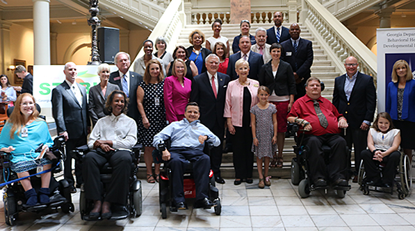 Celebrating the signing of the GA STABLE Act to allow people with disabilities to save money.