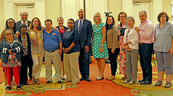 GCDD Council members with Ron Wakefield, director of DBHDD's Division of Developmental Disabilities at GCDD's July Council meeting.